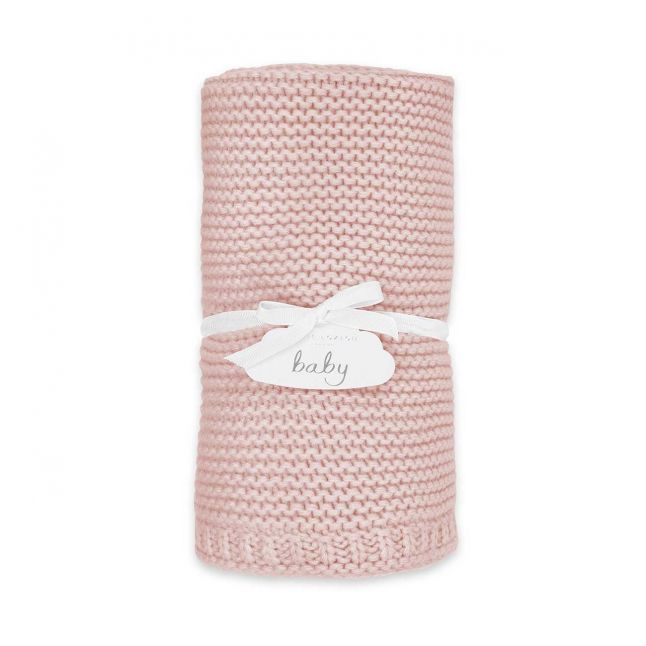 Baby Pink Knitted Blanket