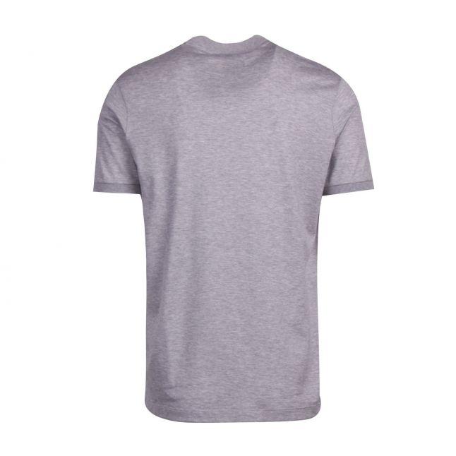 Mens Grey Marl Tri Colour Logo Custom Fit S/s T Shirt