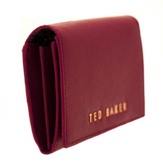 Womens Oxblood Carley Crosshatch Leather Small Purse