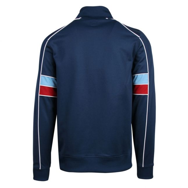 Mens Navy Pacific Zip Through Track Top