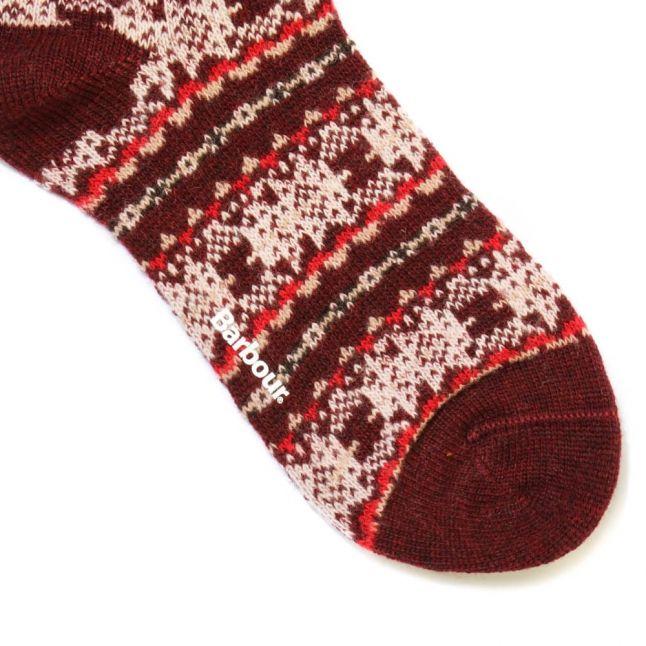 Lifestyle Womens Bordeaux Beckley Fairisle Wool Socks