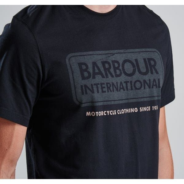 Mens Black International Logo S/s Tee Shirt