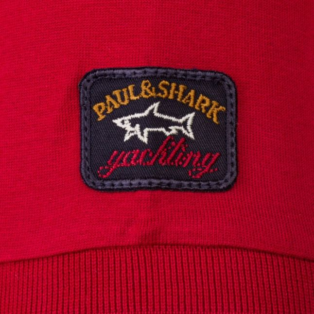 Paul & Shark Mens Red Shark Fit Tonal Logo S/s Tee Shirt