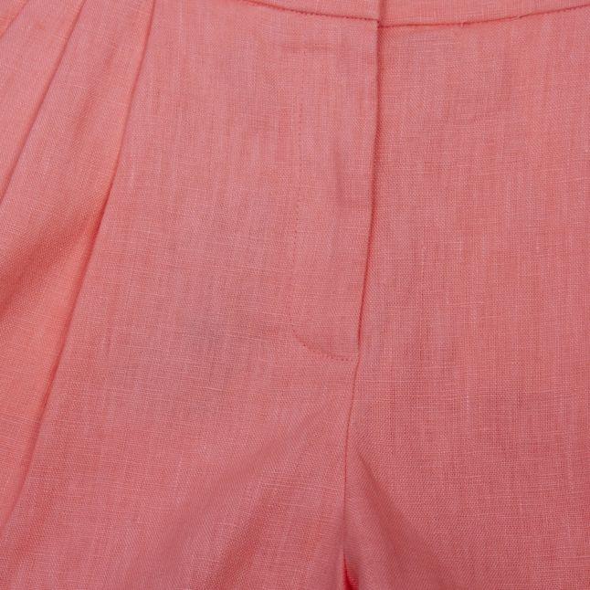 Womens Desert Flower Linen Pleated Shorts