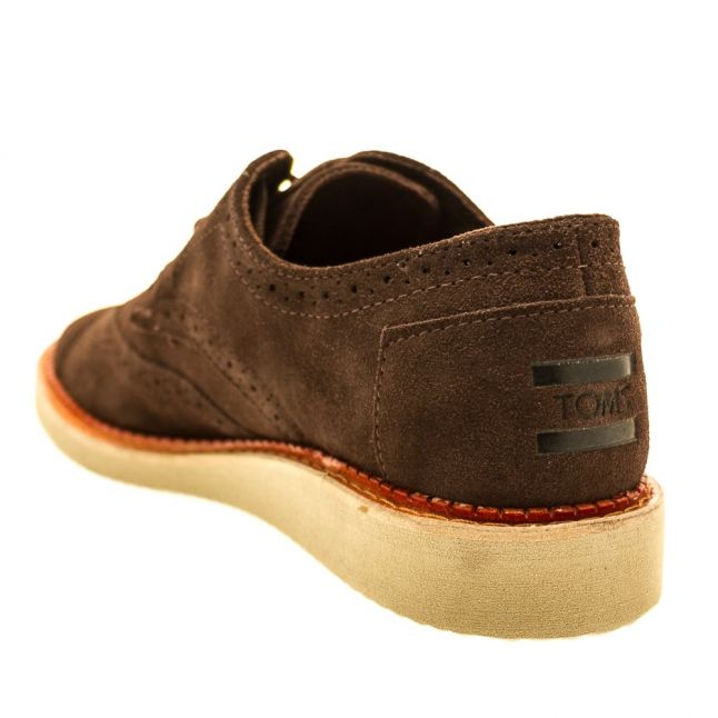 Mens Chocolate Brown Classic Suede Brogue