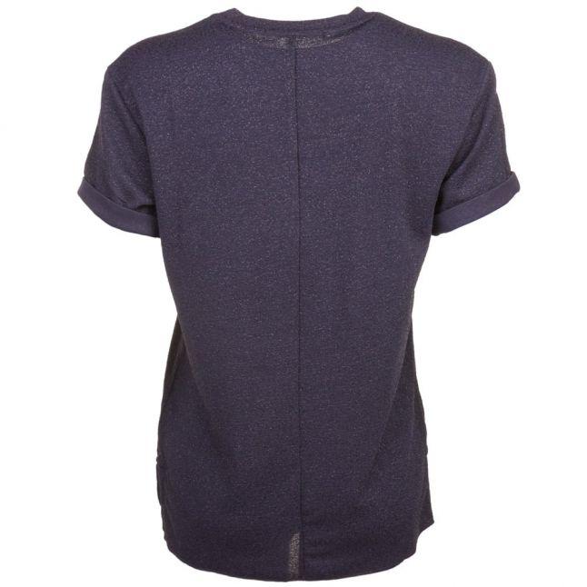 Womens Dark Blue Sparkle S/s Tee Shirt