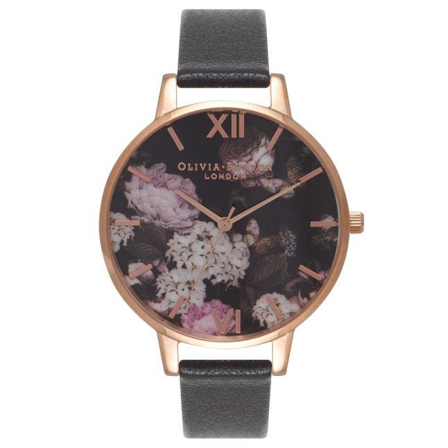 Womens Black & Rose Gold Winter Garden Watch
