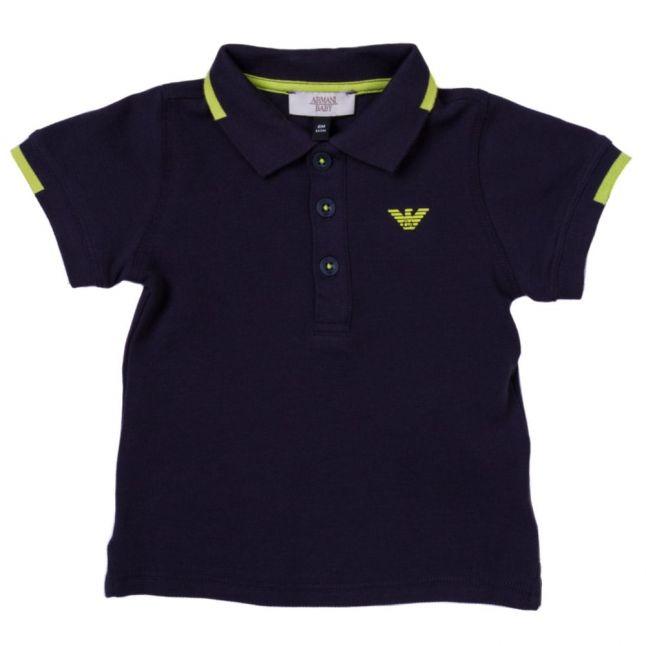 Baby Navy Small Logo L/s Polo Shirt