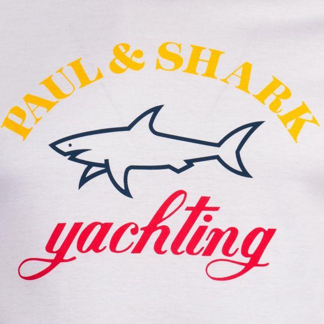 Mens White Logo Shark Fit S/s T Shirt