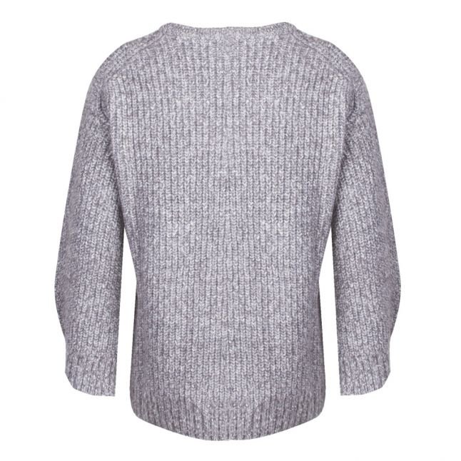 Womens Derby Heather Split Sleeve Ribbed Knitted Jumper