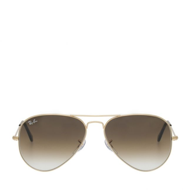 Gold/Crystal Gradient RB3025 Aviator Large Sunglasses