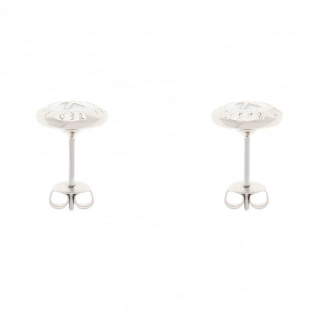 Womens Silver & White Eisley Studs