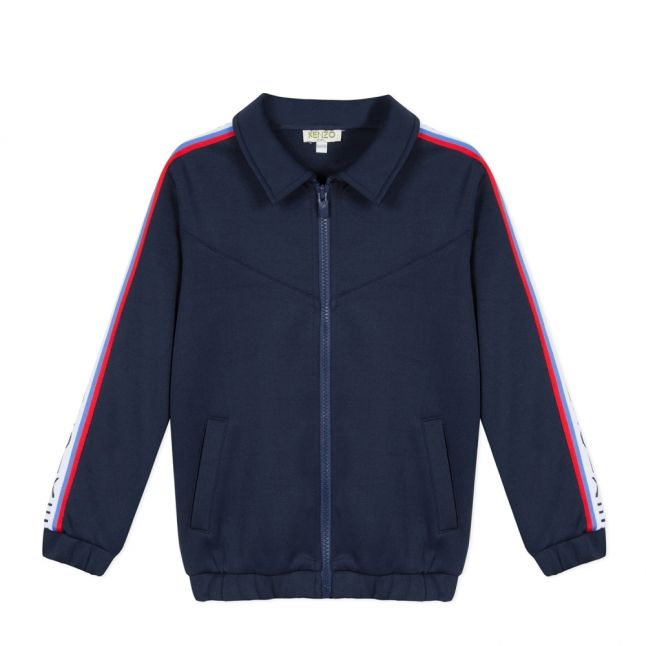 Junior Boys Navy Garisson Tape Sweat Jacket