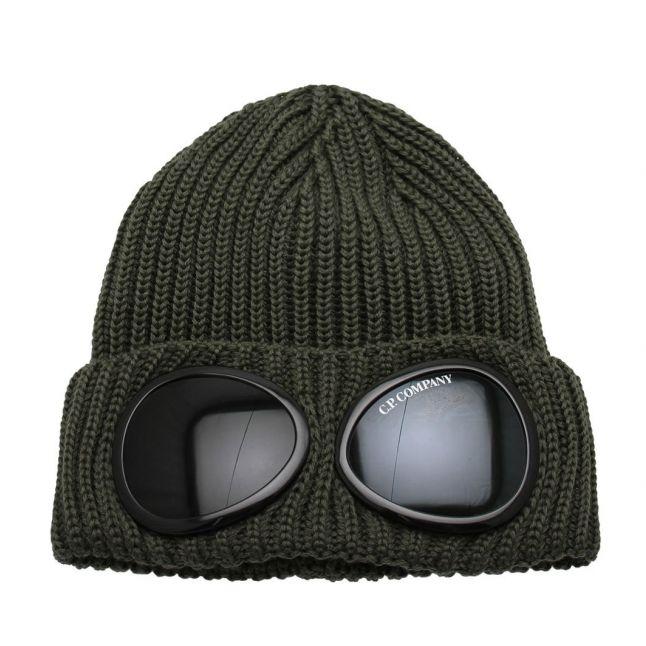 Boys Stone Grey Goggle Beanie Hat