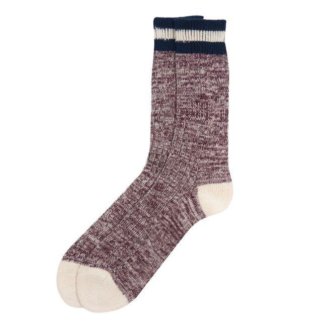 Mens Burgundy Shandwick Socks