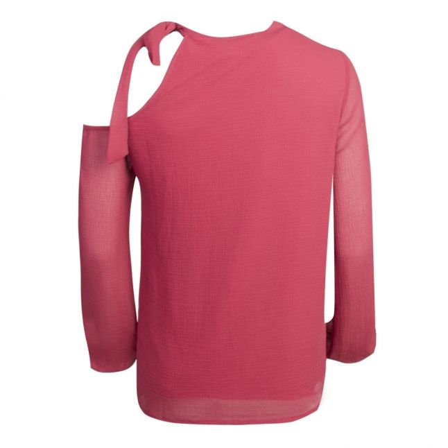 Womens Earth Red Vimimi Bow Blouse