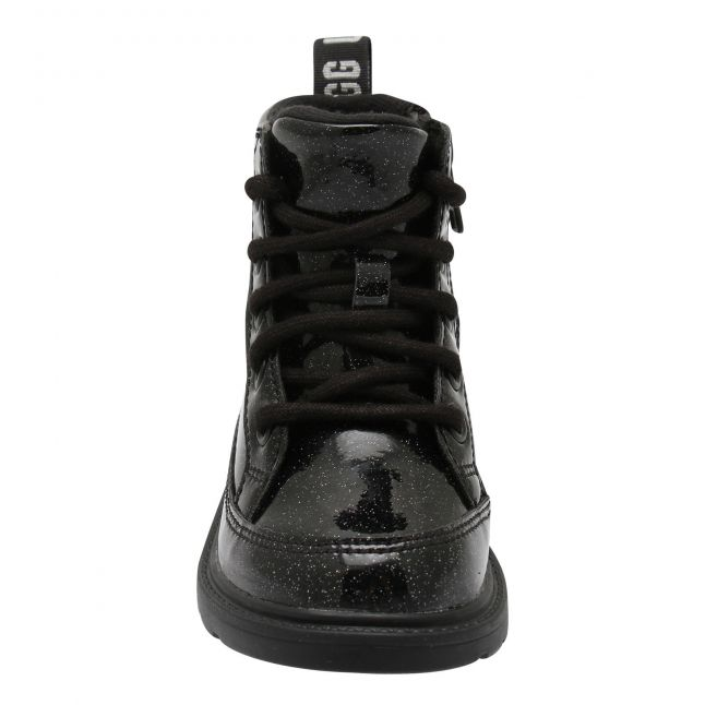 Kids Black Robley Glitter Boots (12-5)