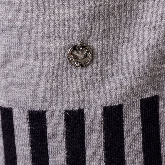 Womens Grey Contrast Detail Knitted Jumper