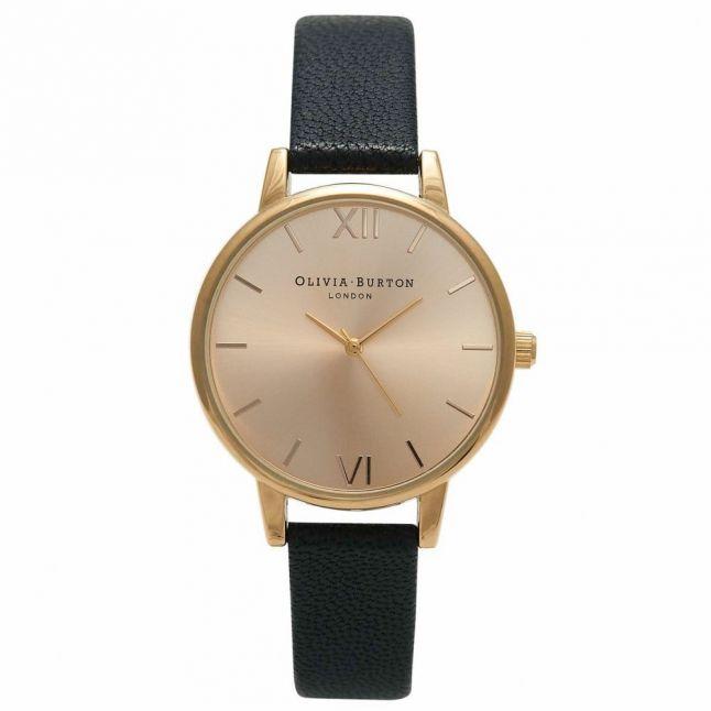 Womens Black & Gold Midi Dial Watch