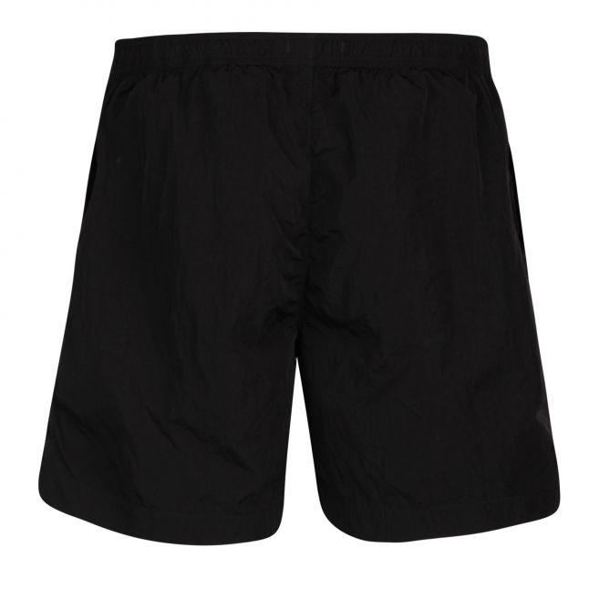 Mens Black Branded Swim Shorts