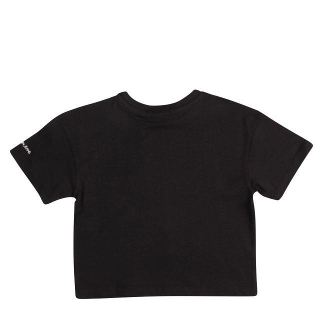 Girls Black Logo Oversized S/s T Shirt