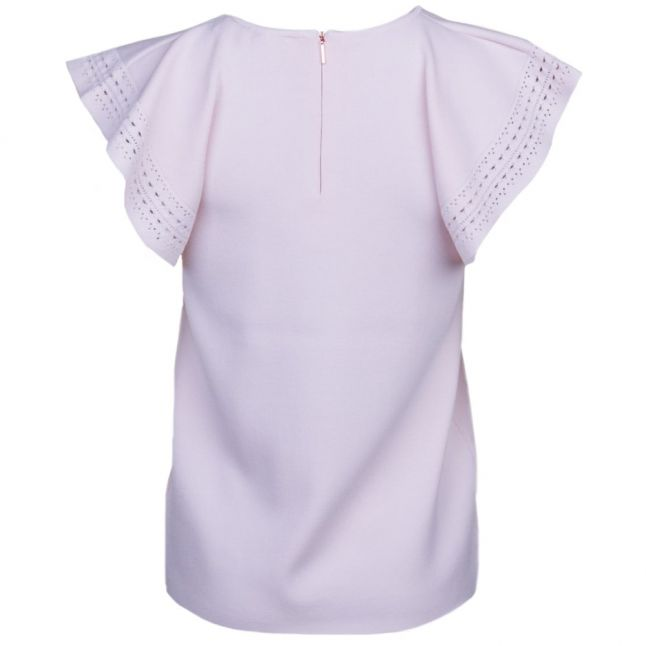Womens Straw Zefori Frill Sleeve Knitted Top