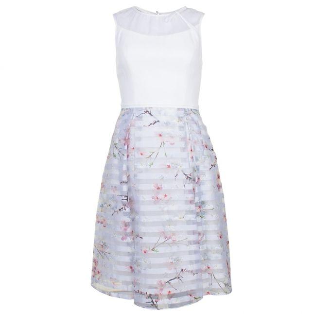 Womens Light Grey Monah Oriental Blossom Dress