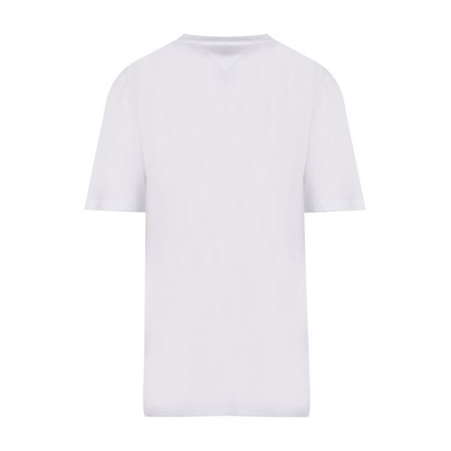 Womens White Neon Collegiate S/s T Shirt