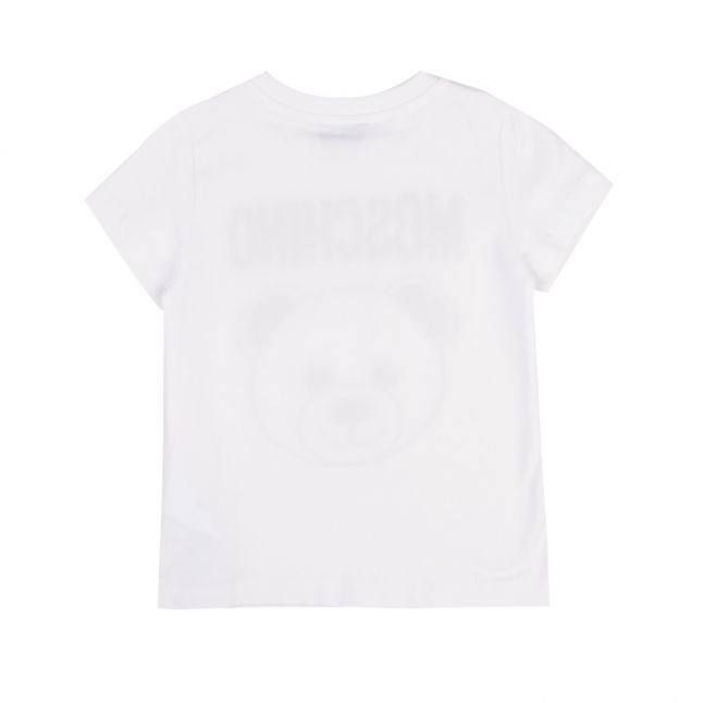 Boys Optical White Embroidered Toy S/s T Shirt