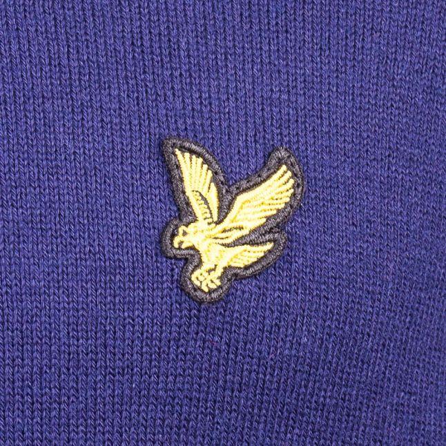 Mens Navy Quarter Zip Merino Knitted Jumper