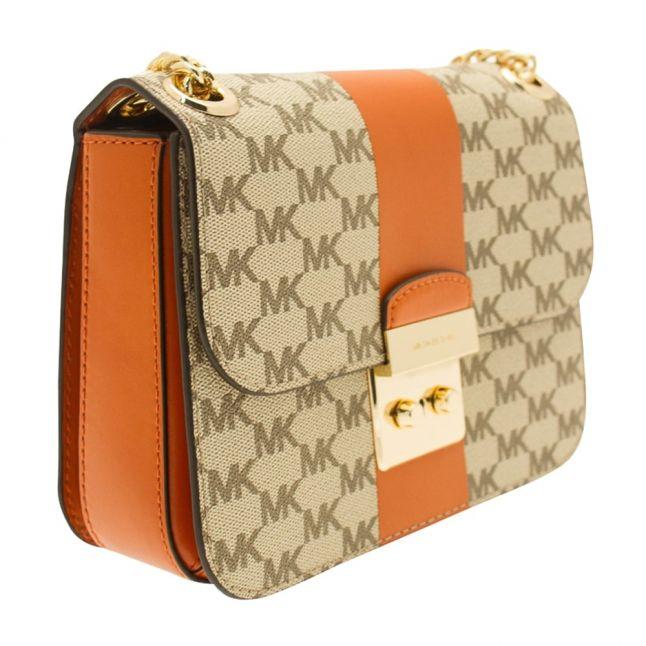 Womens Natural & Orange Sloan Chain Shoulder Bag