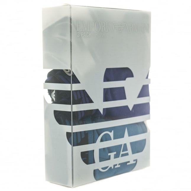 Mens Blue 3 Pack Trunks
