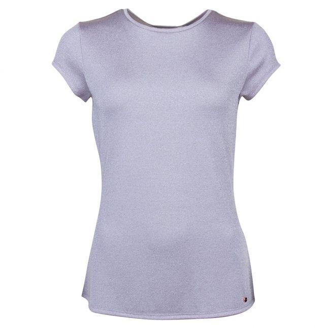 Womens Baby Pink Misy Sparkle S/s Tee Shirt