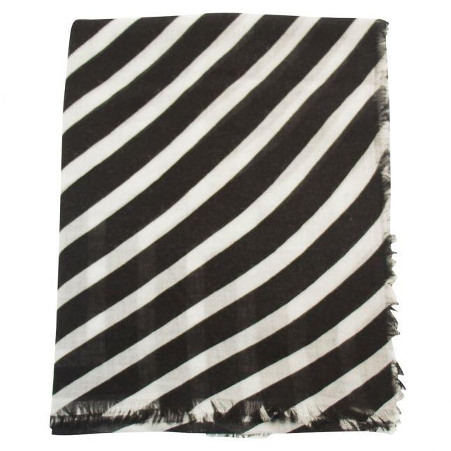 Womens Dark Navy Stripe Scarf