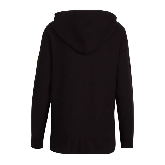 Womens Black Sitka Hooded Knitted Top