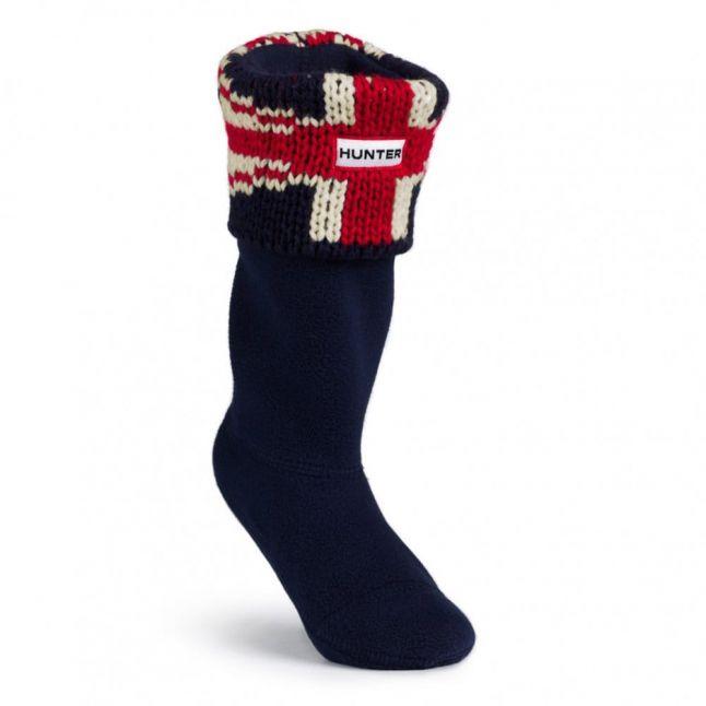 Kids Dark Navy Brit Cuff Wellington Socks (XXS-XXL)