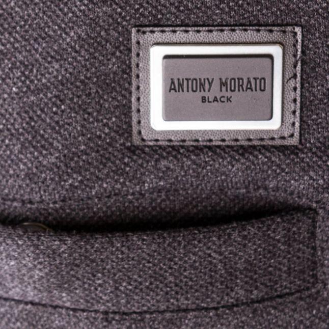 Mens Dark Grey Melange Black Label Pique Jog Pants