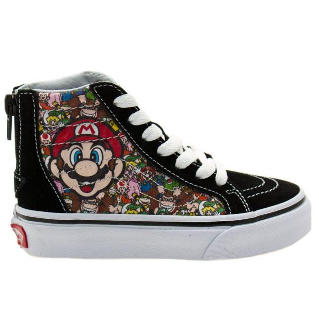 Kids Mario & Luigi SK8-Hi Zip Nintendo Trainers (10-3)