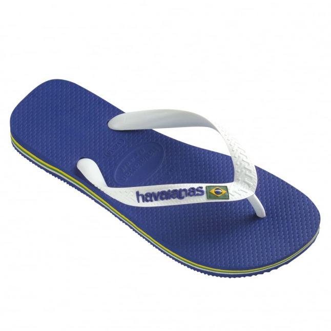 Mens Marine Blue Brasil Flip Flops