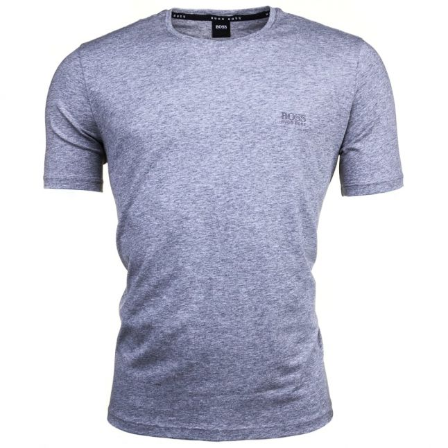 Mens Medium Grey Embroidered Logo Lounge S/s Tee Shirt