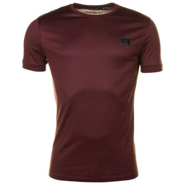 Mens Wine Black Label Badge S/s Tee Shirt