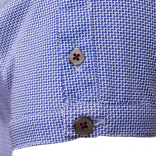 Mens Bright Blue Angelo Printed S/s Polo Shirt