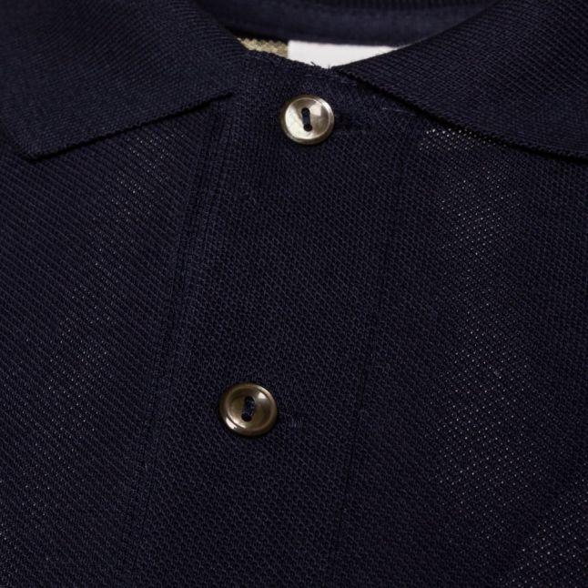 Mens Navy Classic L/s Polo Shirt