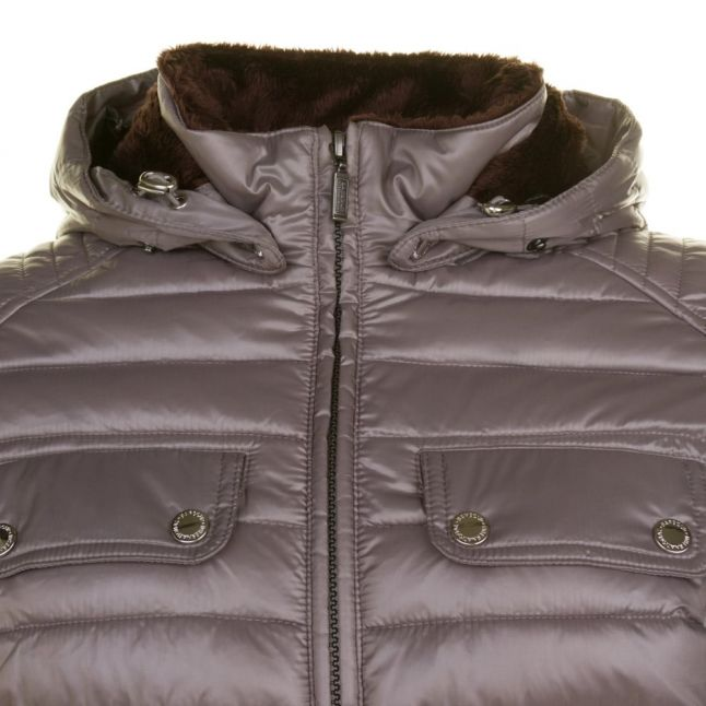 Womens Taupe Endo Baffle Quilted Jacket