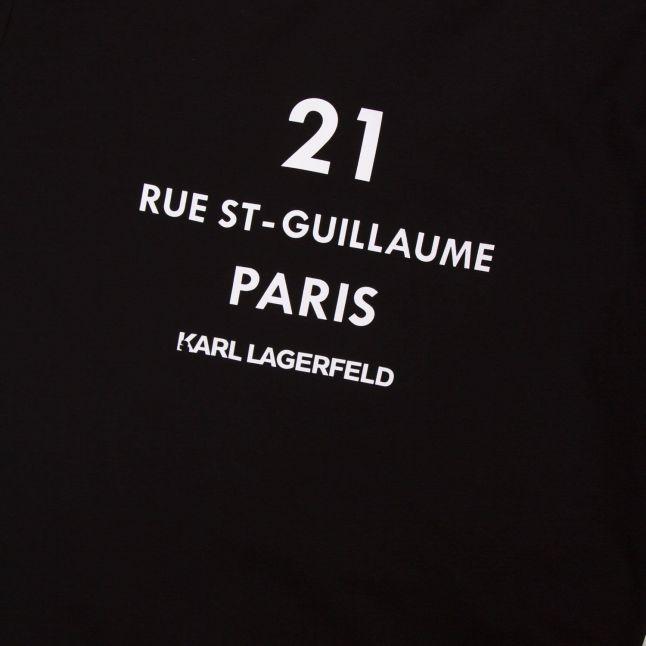 Mens Black Rue St Guillaume S/s T Shirt