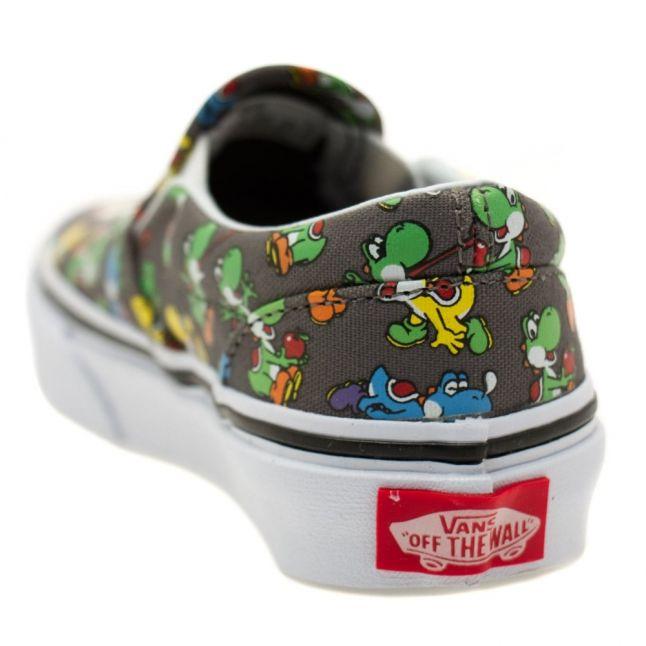 Kids Yoshi & Pewter Classic Slip Nintendo Trainers (10-3)