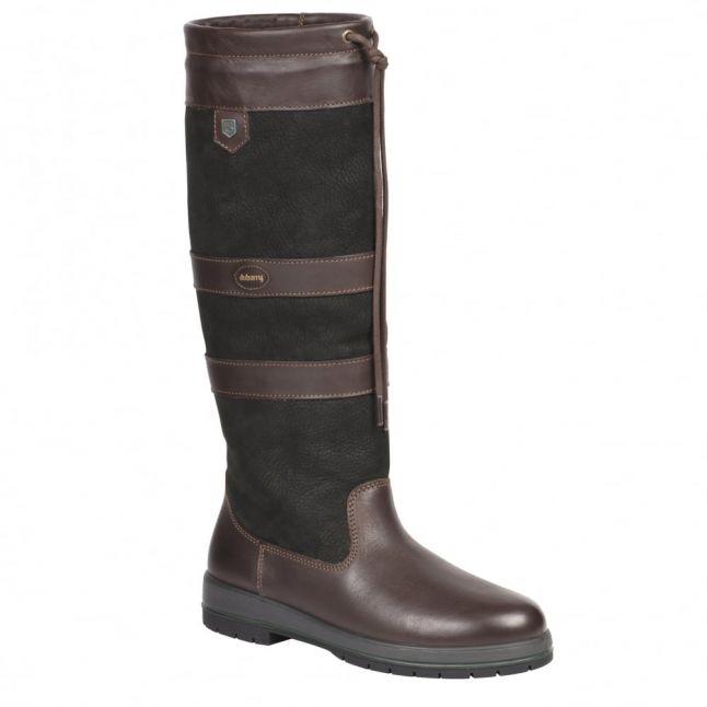 Womens Black & Brown Galway Slim Fit Boots