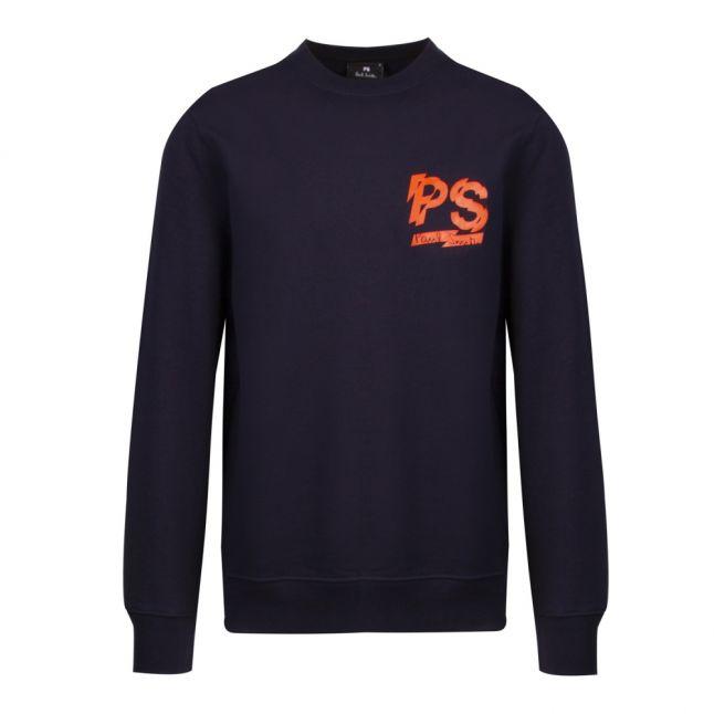 Mens Dark Navy PS Logo Regular Fit Crew Sweat Top
