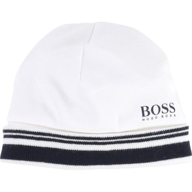 Baby White Branded Soft Hat