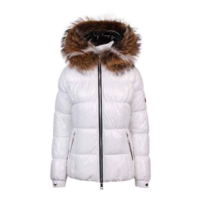 Womens White/Natural White B241 Square Quilted Jacket